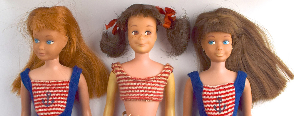 Skipper and Skooter dolls by Mattel