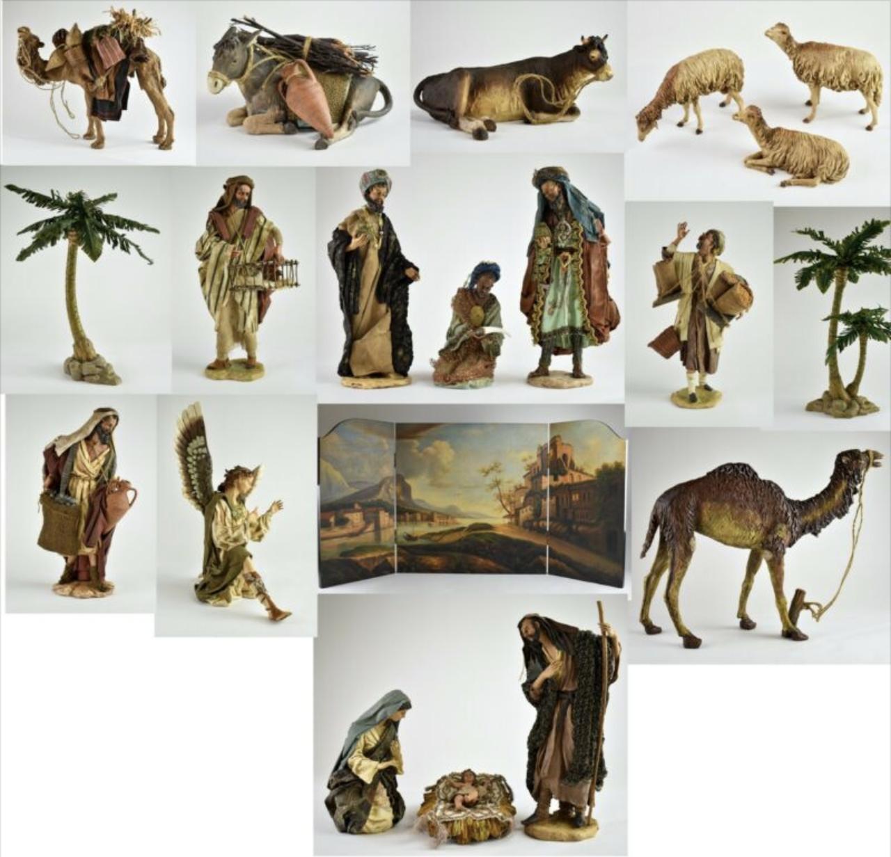 Neiman Marcus  20 Piece Dept. 56 Neapolitan Nativity Set