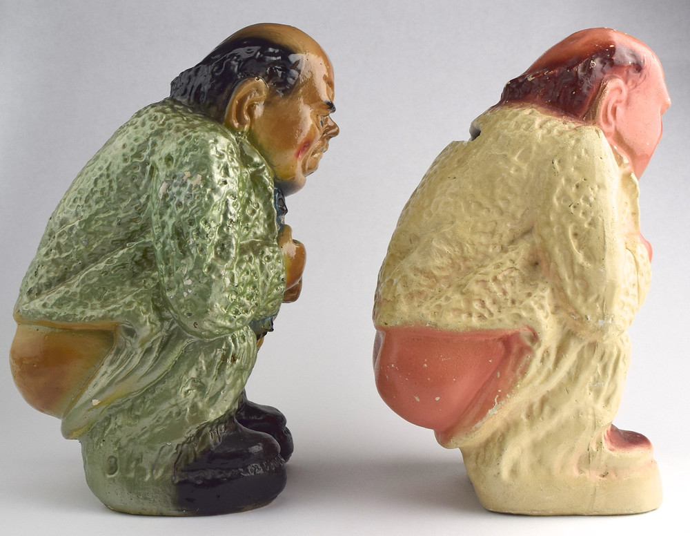 Winston Churchill chalkware banks