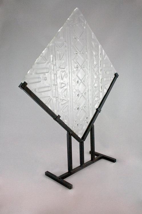 Clear Textured Glass Sculpture