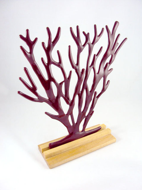 Red Opaque Coral Sculpture