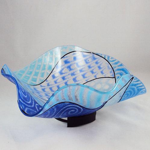 Blue Wavy Bowl