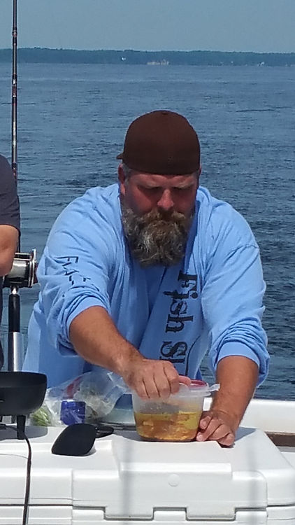 Chef and 1st Mate Bubba Barrett catering, cooking, entertaining on the Chesapeake Bay
