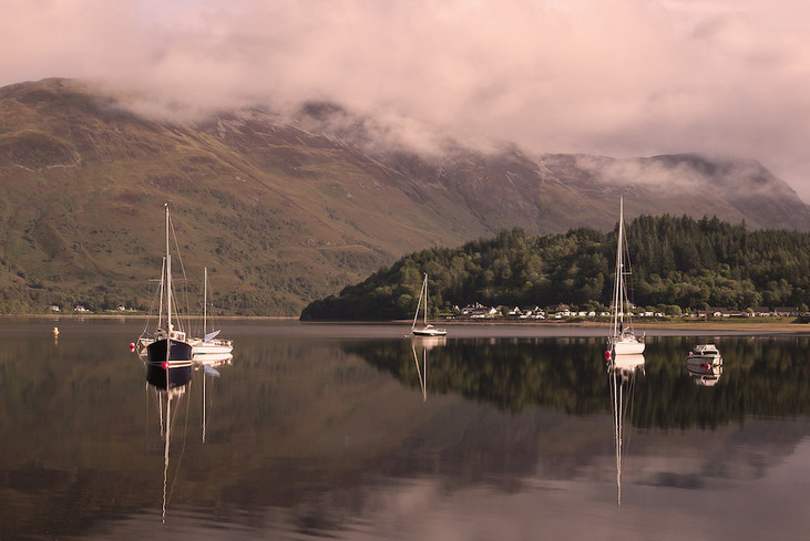 Reflection on Loch Leven