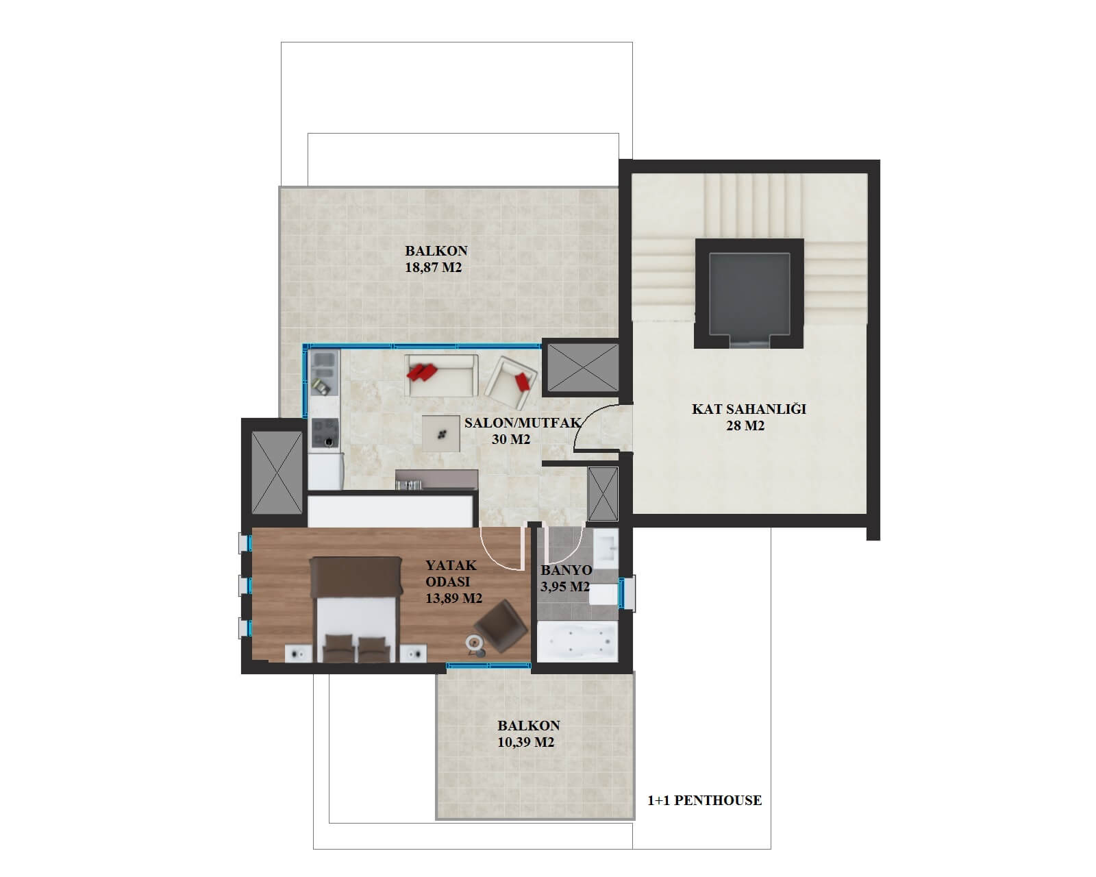 1+1 penthouse
