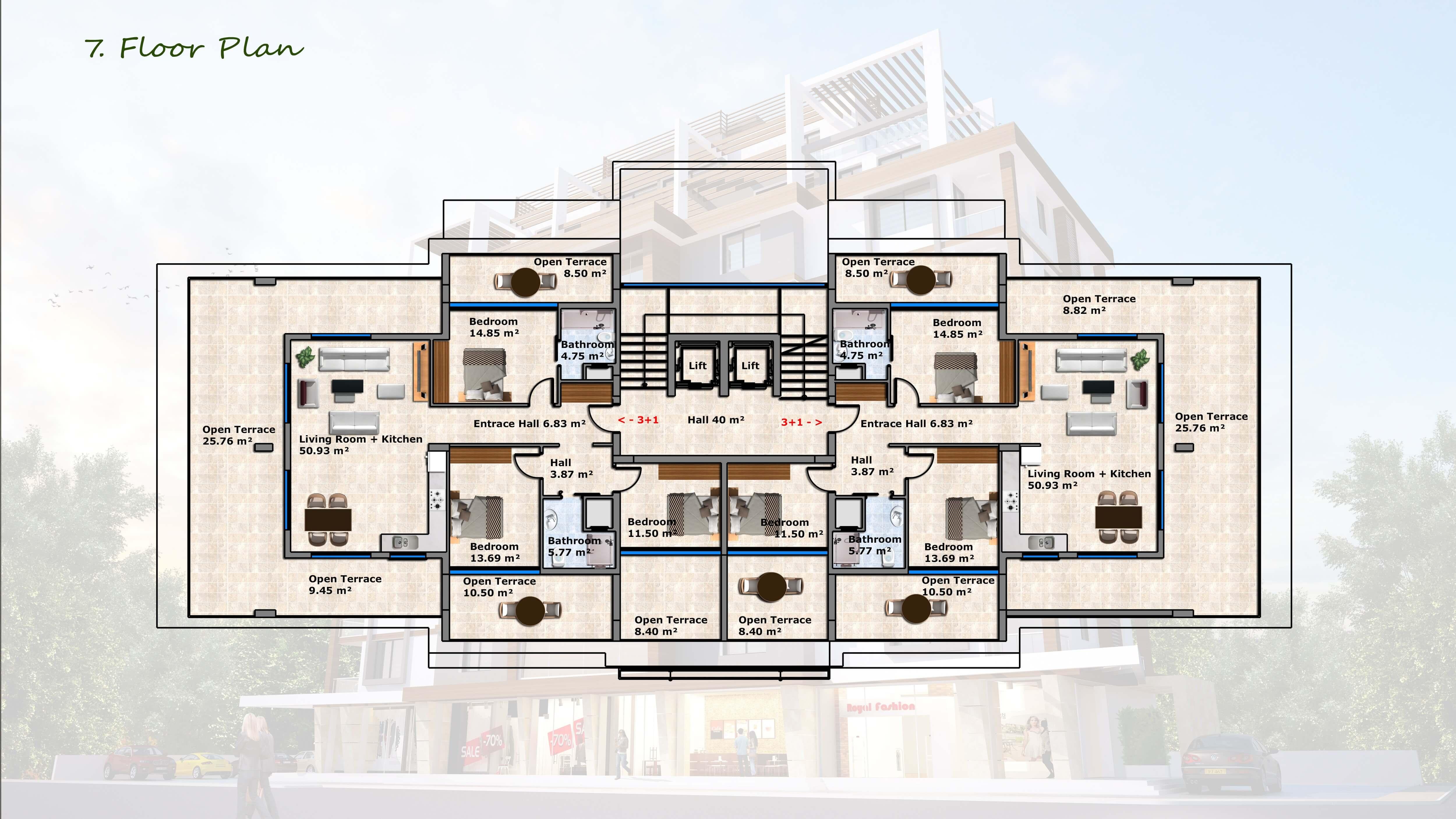 3+1 penthouse