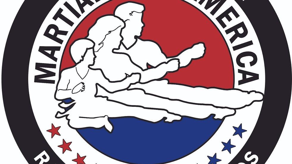 Martial Arts of America Black Car Decal