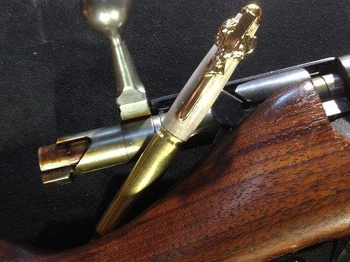 30 Caliber Bullet Pen w/ Deer Antler and Deer Head Clip