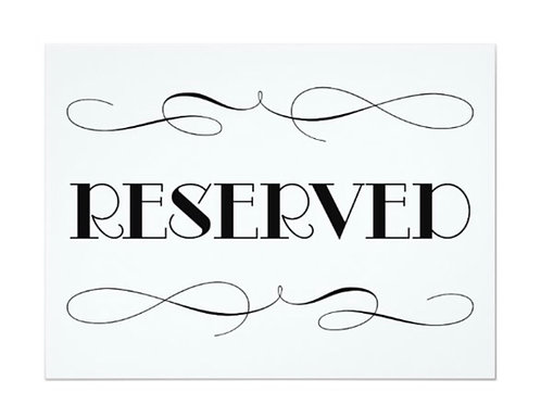 Reserved table for 10