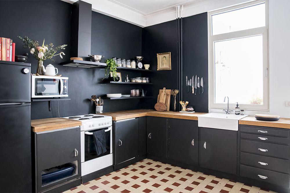 kitchen Matt black cabinet