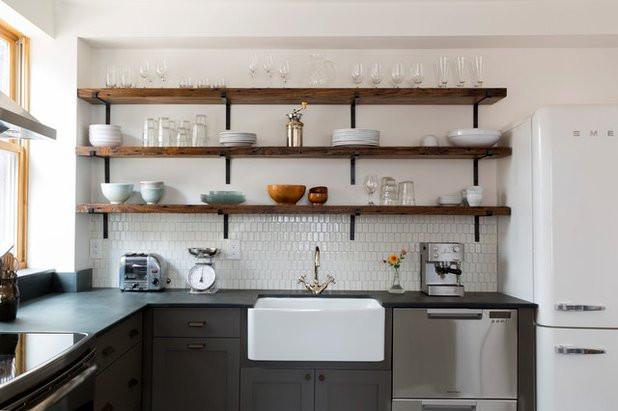 open shelves design for kitchen