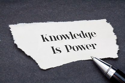 Concept_Knowledge is power written on to