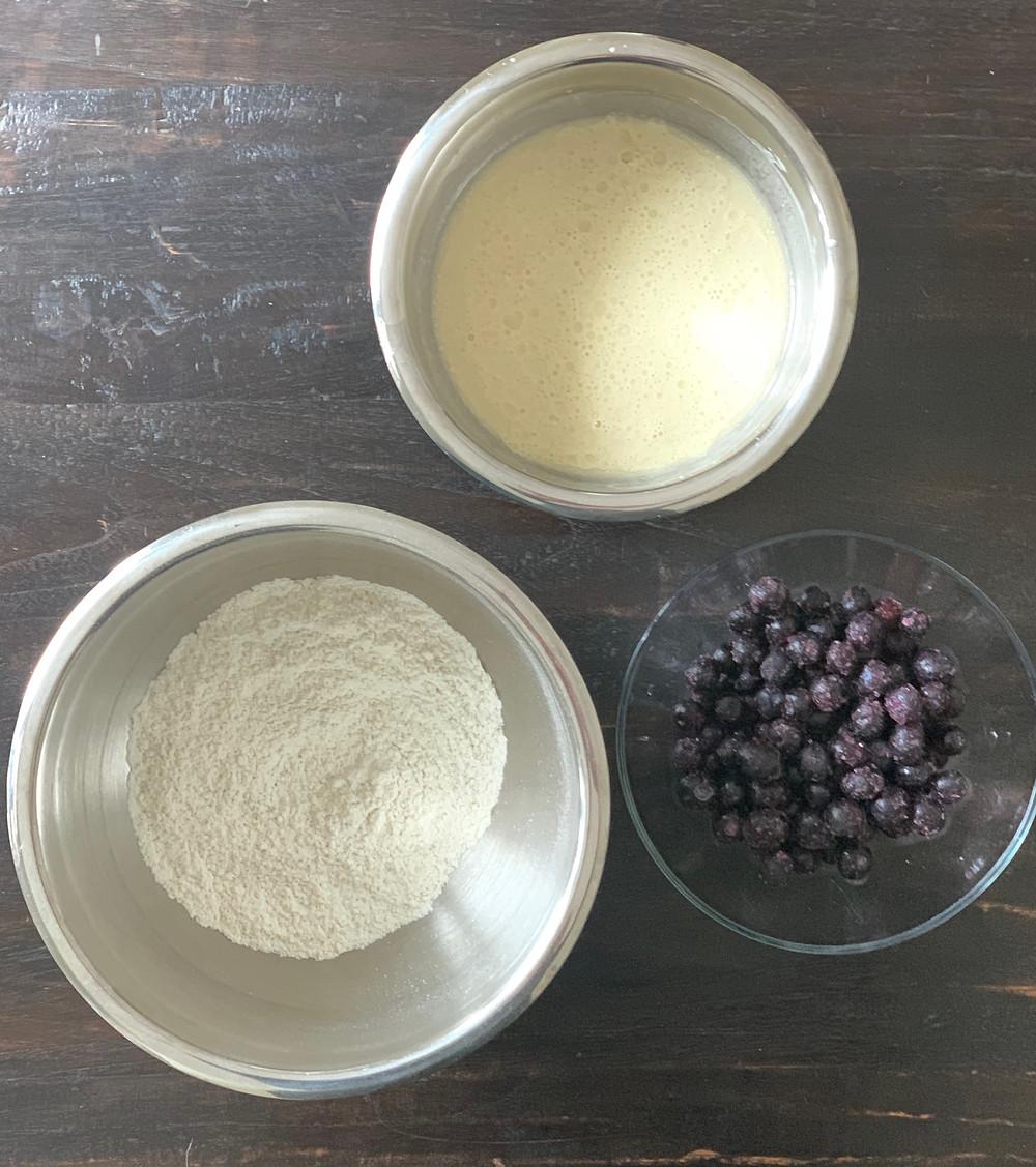 GF Blueberry Pancake ingredients