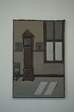 Hollands interieur met staande klok