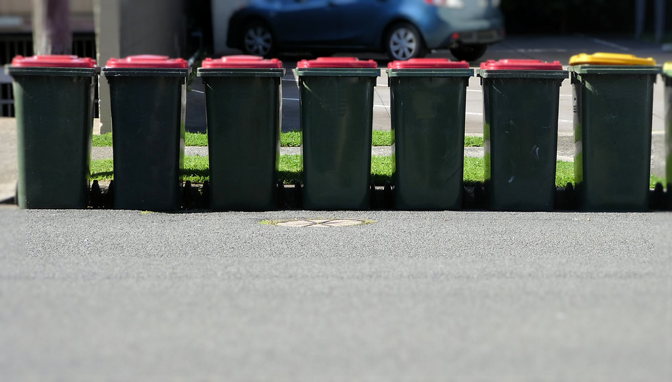 plastic-garbage-bins-in-a-row-out-on-the