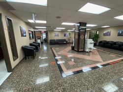 Upstairs reception area & common area