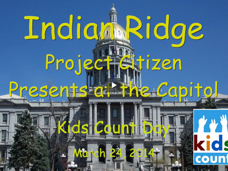 Project Citizen Presents at the Capitol - Kids Count Day