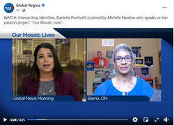 Global Regina Morning 15 march 2021 Our Mosaic Lives Michele Newton