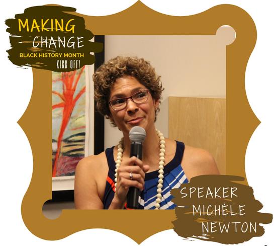 Speaker Michele Newton presents at Makin