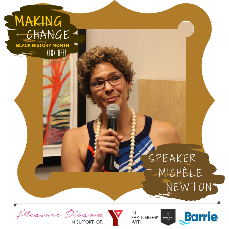 Speaker Michele Newton presents at Makin