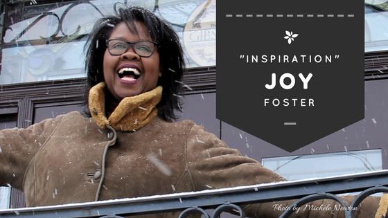 Inspiration - Joy Foster - inspirational speaker and tv host for Black History Month Celebrating Bla