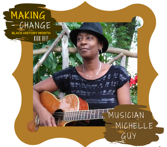 Musician Michelle Guy performs at Making