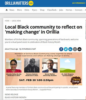 Orillia Matters We Are Here coverage Mak