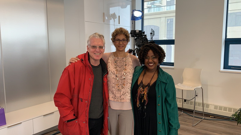 Steve McEown of Rogers TV with Michele Newton and Shelly Skinner