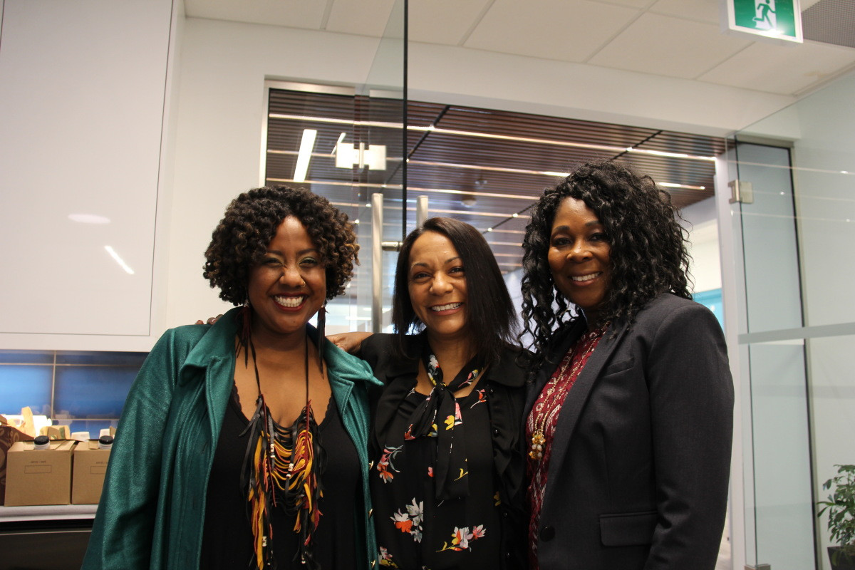 Shelly Skinner with sister Alicia Samuel and keynote Claudine Cousins