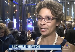 Michele Newton in an image from CTV news at 6 March 1 speaking