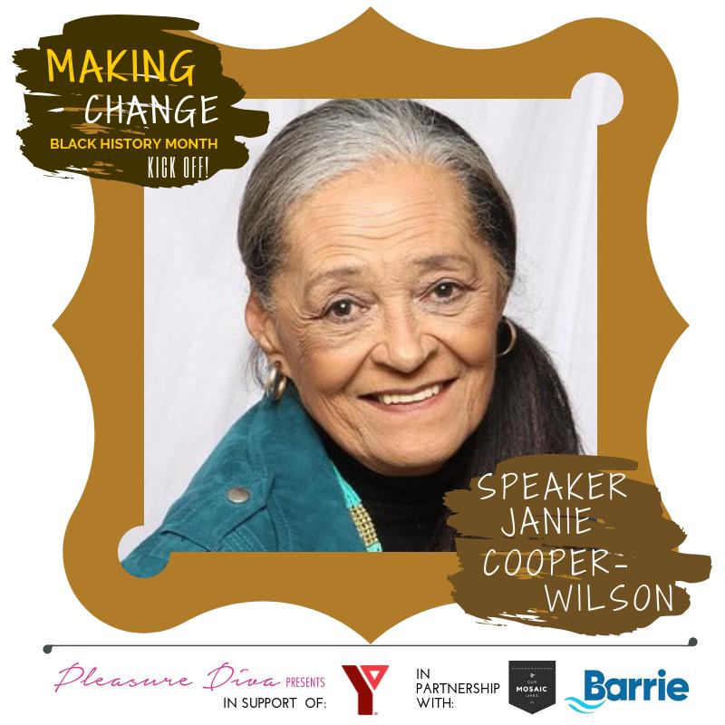 Speaker Janie Cooper Wilson presents at