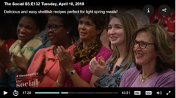 Michele Newton in the audience on CTVs The Social April 10_2018