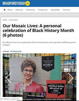 Our Mosaic Lives Coverage Bradford Today