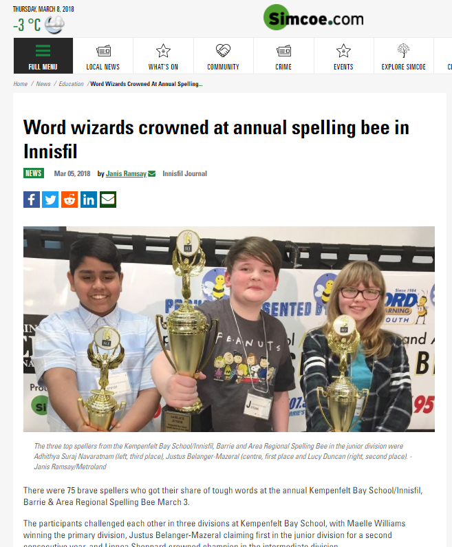 Word Wizards crowned in Spelling Bee