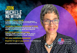 Michele Newton joins You Me We Panel in Counscious Conversation DEI