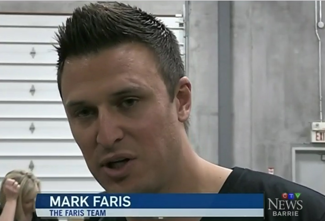 Mark Faris at Barrie Food Bank CTV Barrie interview April 2018 with PMJ Inc