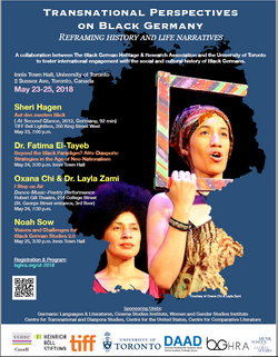 Transnational Perspectives on Black Germany U of T BG Conference May 23-25 2018
