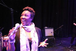 Dione Taylor at Barries Five Points Theatre Feb 2018  for Our Mosaic Lives Black History Month