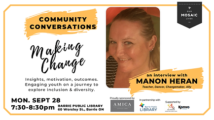 Guest Manon Heran for Community Conversa