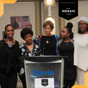 Michele Newton and four Black women friends makes Black History Month presentation at City of Barrie