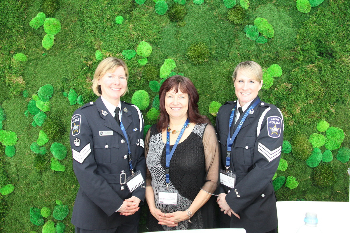 Guests included Barrie Polices Services members
