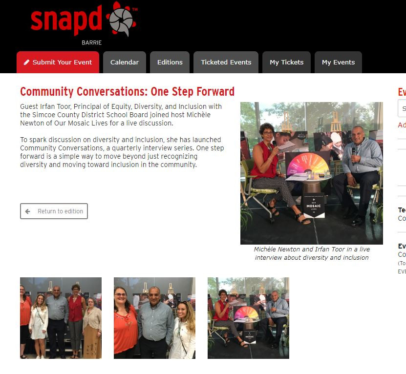 Snapd coverage Irfan Toor Community Conv