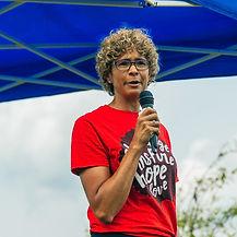 Michele Newton Aug 22 BLM Peaceful Protest Barrie photo Hawton Media.jpg