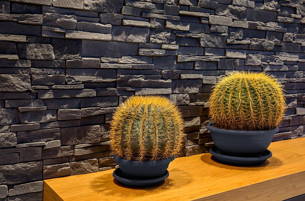 Paneles premontados de piedra natural en el recibidor