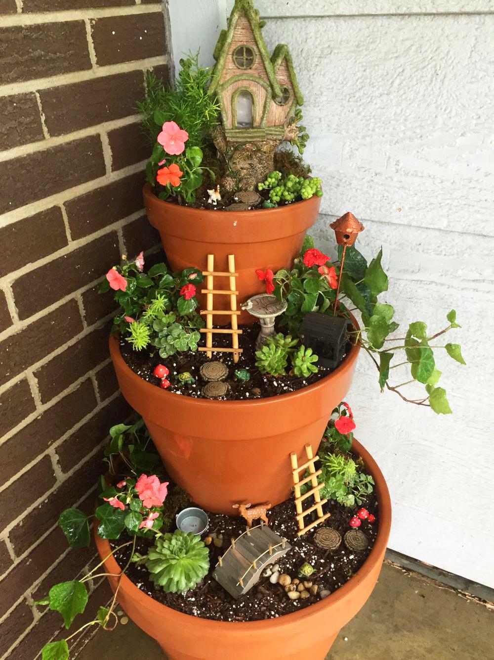 Mini jardines de cuento: un jardín triple