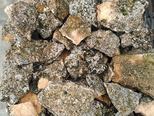 Piedra irregular musgo rústico