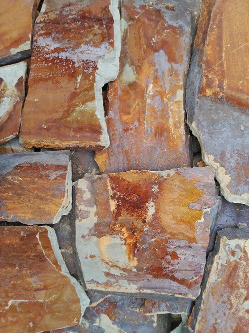 Piedra irregular pizarra rojo óxido