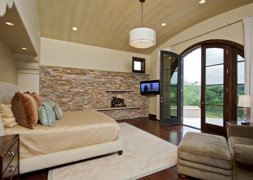 Paneles premontados de piedra natural en la habitación