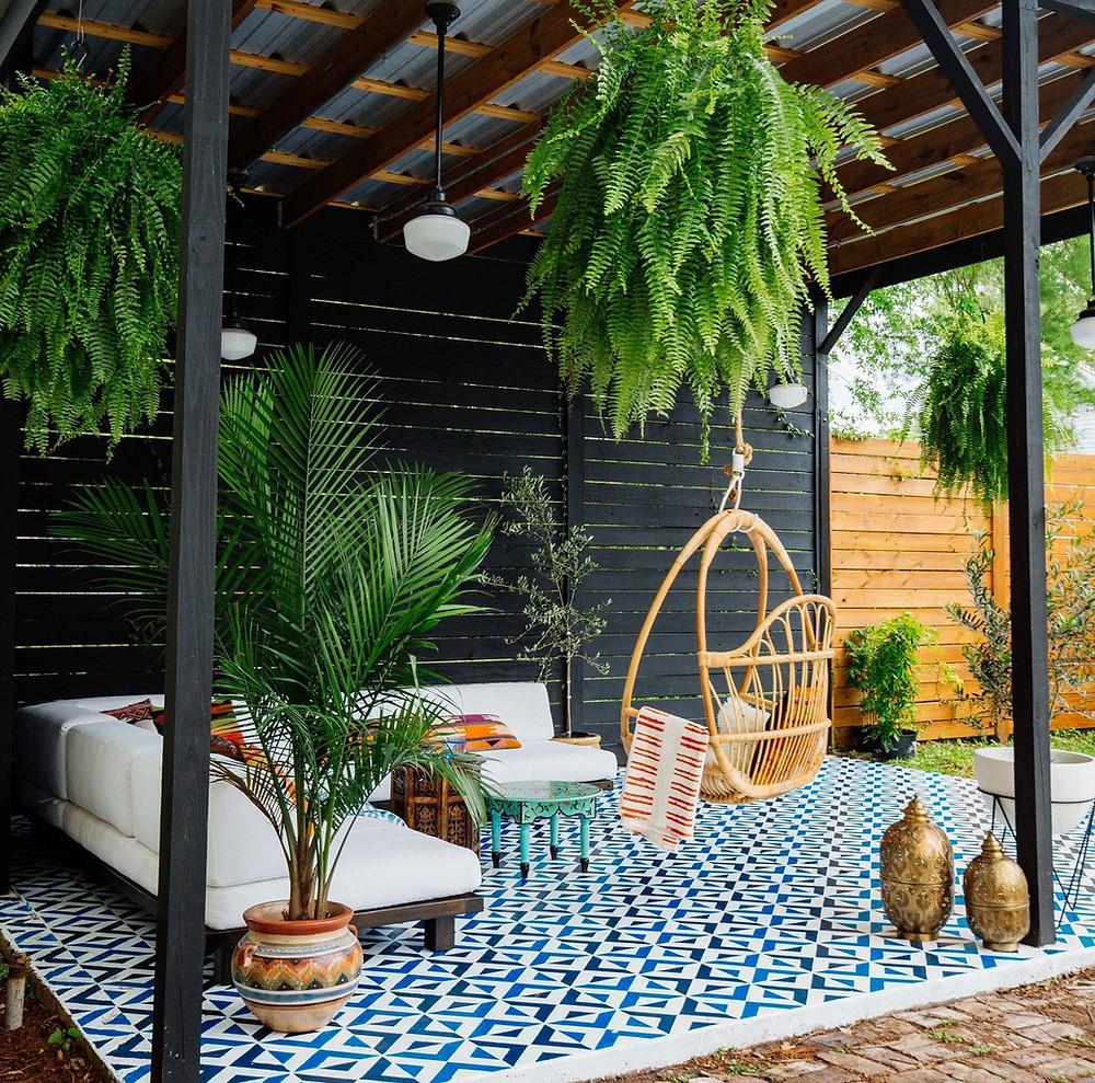 Chill out en el jardín: exótico