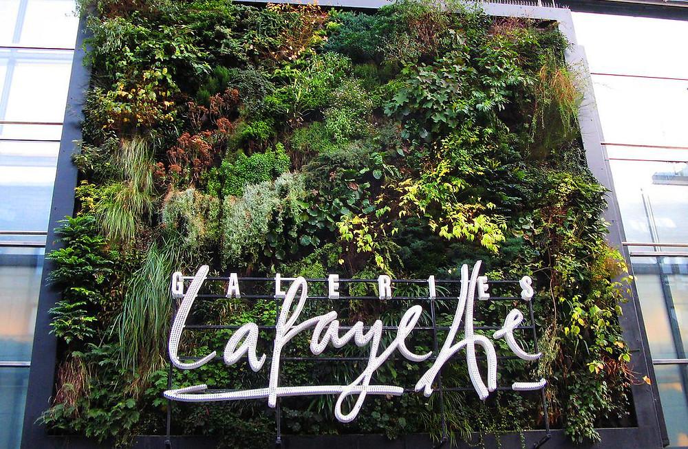 Jardín vertical en Galerías Lafayette (Alemania)